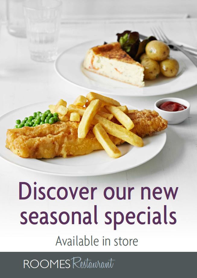 Our new seasonal specials